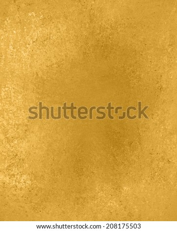 Yellow Gold Background Texture Design Old Wall Paint