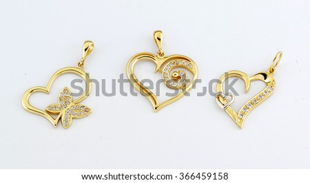 Gold pendant stock images royalty free images vectors yellow gold heart pendant isolated aloadofball Image collections