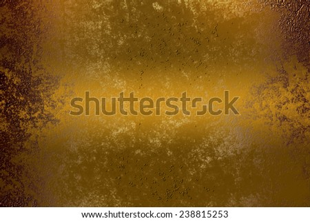 Yellow golden abstract  background , with   painted  grunge background texture for  design