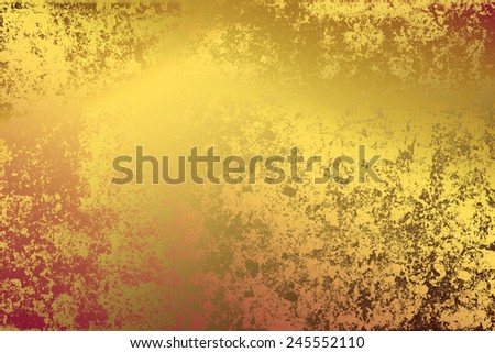Yellow golden , abstract   background , with   painted  grunge background texture for  design .