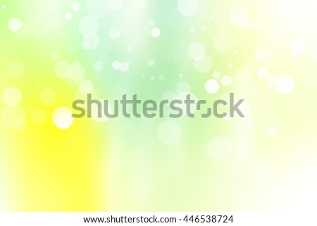 yellow, green abstract wallpaper. light bokeh backdrop background.