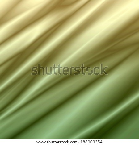 yellow green background abstract waves illustration, of silk  satin  - stock photo