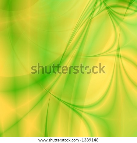Yellow-Green background illustration - stock photo