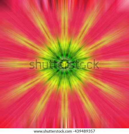 Yellow Green Red Pink Peach blue star twist spiral design background backdrop burst star circle blue purple bright unique abstract art pattern even symmetrical