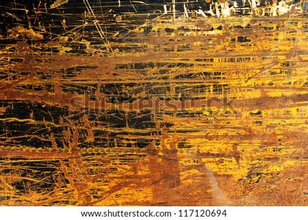 yellow Grunge background - stock photo