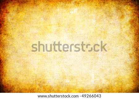 yellow grunge textured abstract background for multiple uses - stock photo
