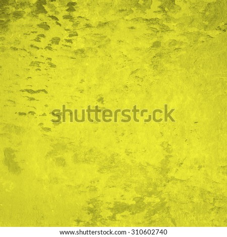 Yellow grunge wall for texture background - stock photo