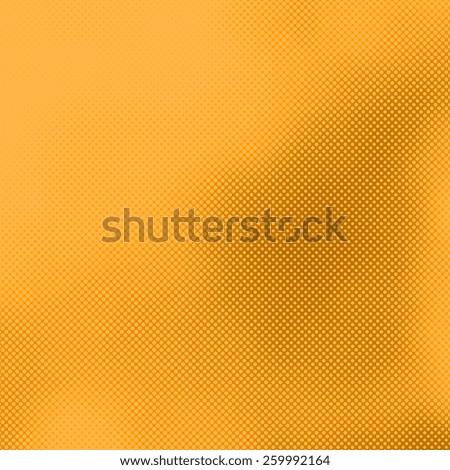 yellow halftone abstract background, many irregular dots and diamonds pattern  - stock photo