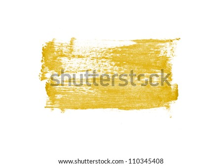 Yellow hand painted strokes texture