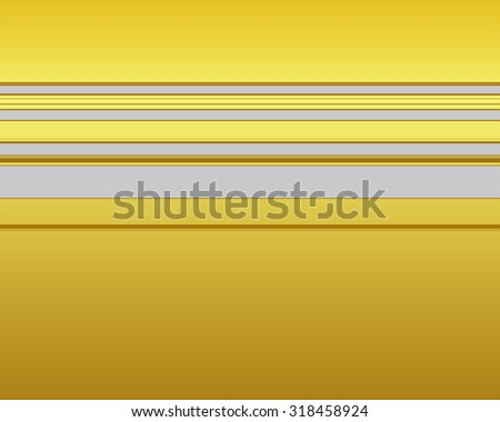 Yellow horizontal strip pattern over gray background - stock photo