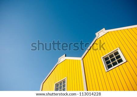 Yellow house - stock photo