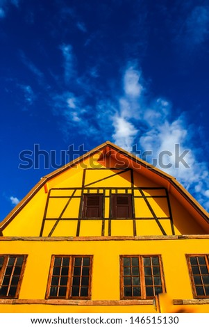 Yellow House. - stock photo
