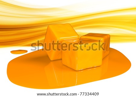 Yellow illustration - stock photo
