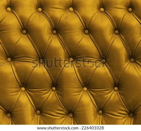 yellow leather texture - stock photo