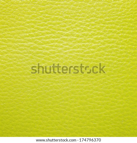 Yellow leather texture for background - stock photo
