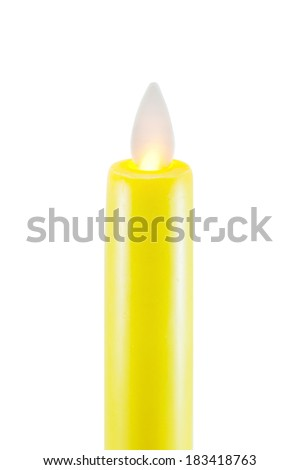 yellow LED candles