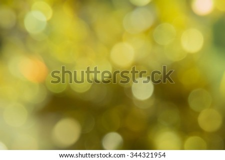 yellow light bokeh abstract background for Chrismas and new year theme