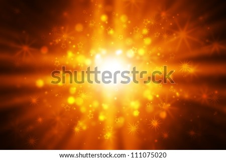 yellow light with star background