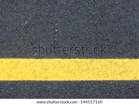 Yellow line - stock photo