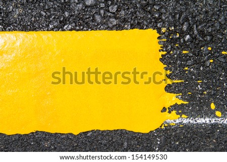 yellow line on road texture - stock photo