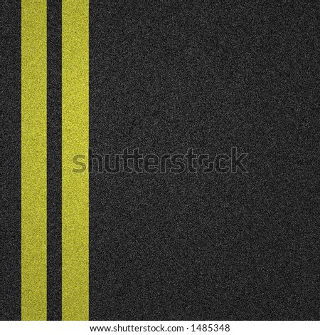 yellow lines on tarmac