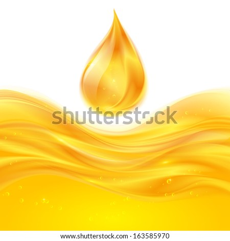 Yellow liquid oil or juice background