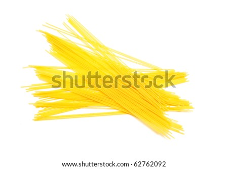 Yellow macaroni isolated on white background - stock photo