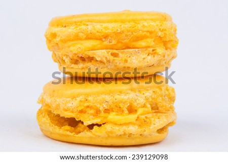 Yellow Macaroon With Orange And Saffron