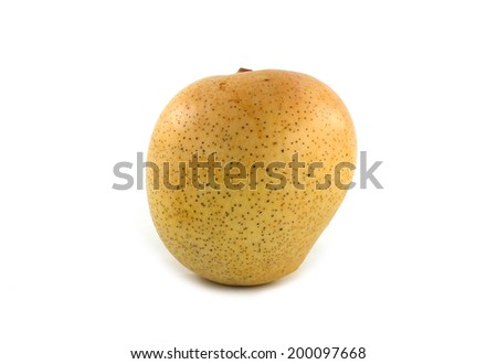 Yellow mango ,thai fruit favorite isolated on a white background