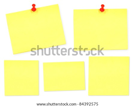 Yellow memo stick on white background