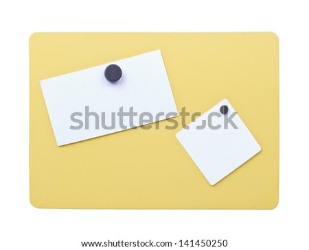 yellow metal frame isolated on white background