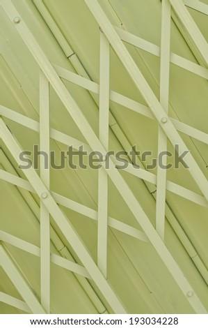 Yellow metal grille sliding door background - stock photo
