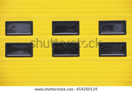 Yellow metal textured wall background  - stock photo
