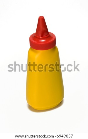 yellow mustard bottle (label removed)