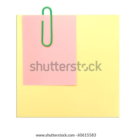 yellow note isolated on white
