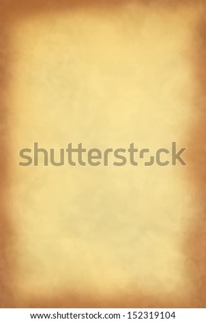 Yellow old paper frame can be used for background - stock photo