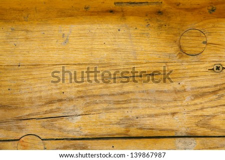 Yellow old wood texture - perfect grunge background