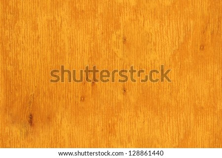 Yellow orange background. Cracked painted seamless tiled wood board texture - stock photo