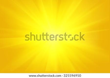 Yellow orange summer sun light burst background. - stock photo