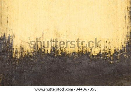 yellow painted artistic canvas background texture