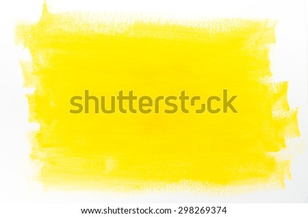 yellow painted background on white paper