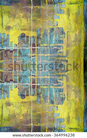 yellow painted grunge wall background