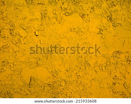 yellow painted metal texture - stock photo