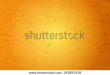 Yellow painted wall texture background - stock photo