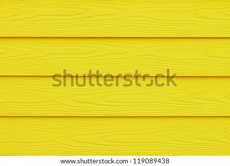 Yellow Painted Wood - stock photo
