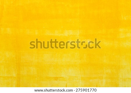 Yellow painting wall in the modern living room. - stock photo
