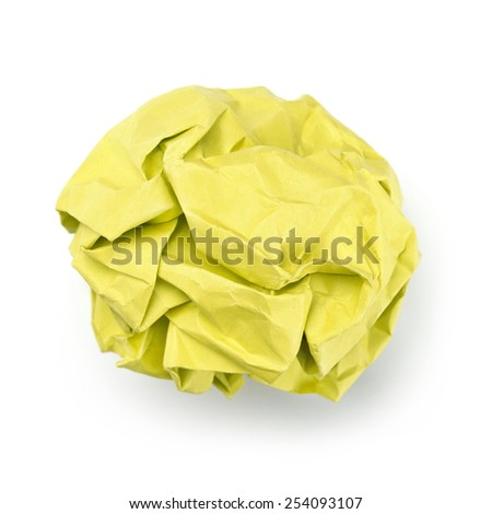 Yellow paper ball
