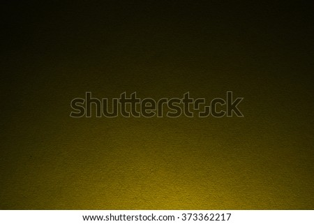 Yellow paper texture with light from the bottom side