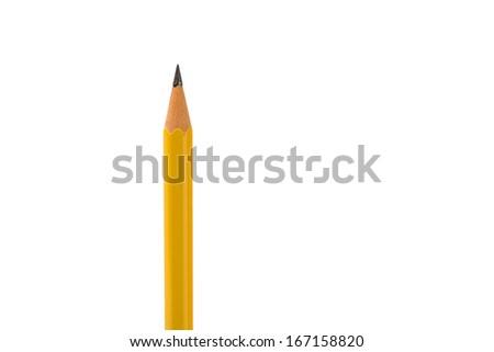 yellow pencil - stock photo