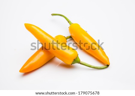 Yellow peppers - stock photo